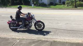 10. 1993 Harley Davidson Dyna Low Rider FXDL (pink) 2453 Fallen Cycles