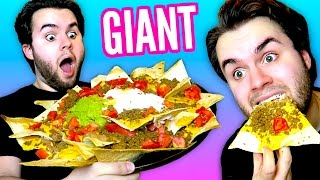 DIY Giant Taco Bell Nachos! with HUGE Chips! - BIGGEST Mexican Pizza & Nachos BellGrande