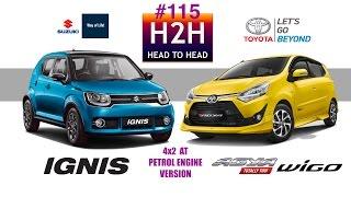 Video H2H #115 Suzuki IGNIS vs Toyota NEW AGYA WIGO MP3, 3GP, MP4, WEBM, AVI, FLV Februari 2018