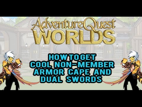 =AQW= How to get cool non member Armor, Cape, and Dual swords