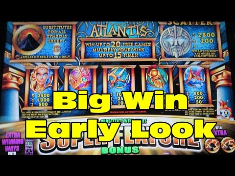 Aristocrat – Treasures of Atlantis!  Big Win!  Early Look!