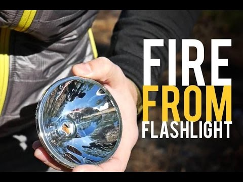 Start Fire With Flashlight- 1 Minute Fire Challenge