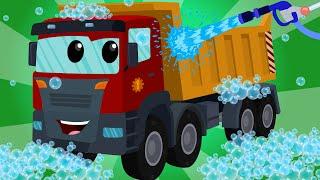 Video Dump Truck | Car Wash | Kids Videos | Learn Transport MP3, 3GP, MP4, WEBM, AVI, FLV Mei 2017