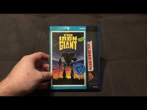 The Iron Giant(1999) Walmart Exclusive VHS Blu-ray Cover Unboxing!