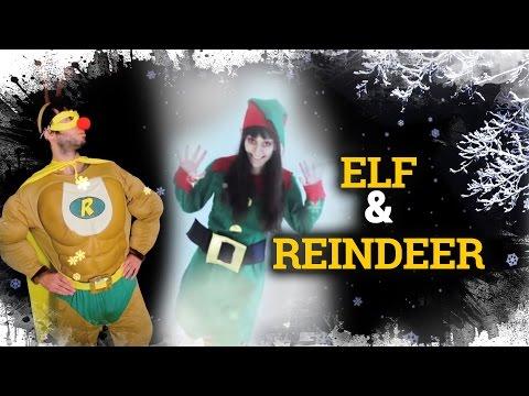Elfa navideña (Maquillaje + Super Rudolf!!)  |  Elf makeup and Super-Reindeer costume.