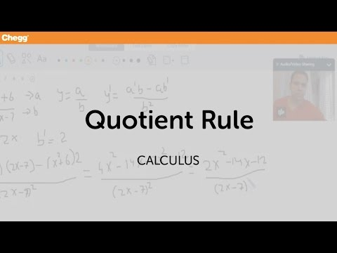 definition of quotient rule cheggcom