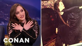Kat Dennings Was A Goth Kid  - CONAN on TBS