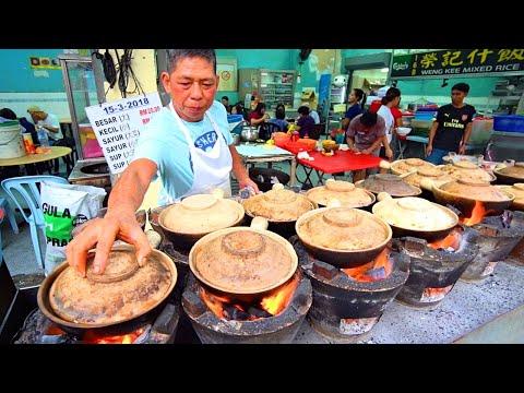 Kuala Lumpur Chinatown Street Food Guide!! FLAMING HOT CLAYPOT  Chinese Street Food in Malaysia
