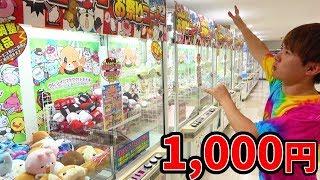 激獲れお祭りコーナー閉店10分前!1,000円でいくつとれるのか?UFOキャッチャー