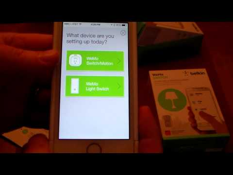 Belkin WeMo Switch Setup & Demo