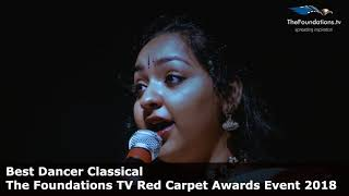 Manasa Jayanthi wins The Foundations TV Best Dancer Classical Award