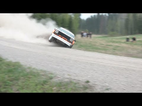 Finnish - Vuoden 2013 kaatoja, ulosajoja, liippejä ja likitilanteita. Year 2013 Finnish rally crash compilation. Best rolls, crash and moments. Part II http://www.yout...