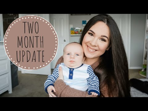 TWO MONTH BABY UPDATE | Rashes, Giggles, & Rolling Over