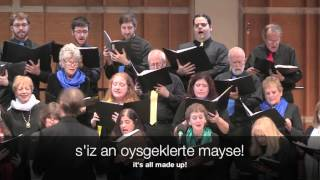 Yiddish poem: I. L. Peretz (1852-1915) Original music: Beethoven's 9th Symphony Choral adaptation: Binyumen Schaechter Filmed live in performance ...