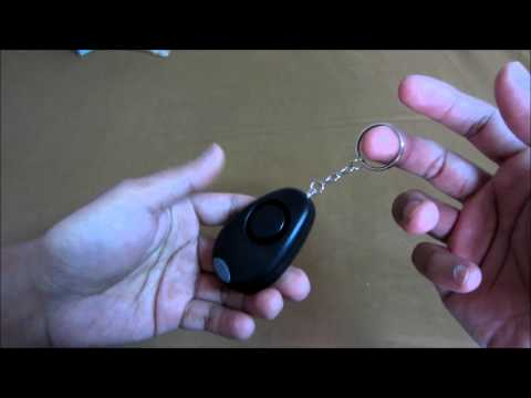 Vigilant Personal Alarm Keychain with LED Light