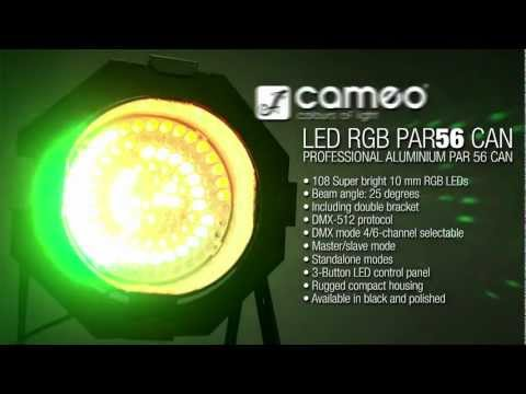 Cameo Light PAR 56 CAN - 108 x 10 mm LED PAR Can 56 RGB