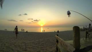 Sunset Timelapse At Lanta Paradise Beach Resort, Koh Lanta, Thailand