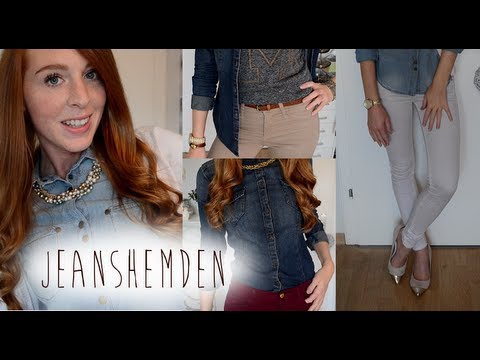 Jeanshemd kombinieren   How to style Jean jacket