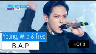 [HOT] B.A.P - Young, Wild & Free, 비에이피 - 영 와일드 앤 프리, Show Music core 20151128, clip giai tri, giai tri tong hop