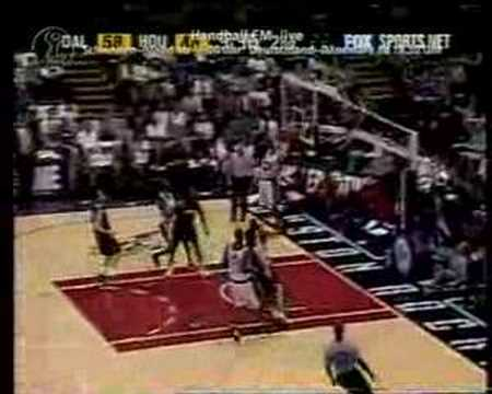 Steve Francis catches the monster alley-oop from Moochie.