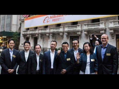 """At - Sept. 19 (Bloomberg) -- Alibaba opened trading at $92.70, 36% higher than IPO pricing at $68. Bloomberg's Leslie Picker reports on """"Market Makers."""" (Source: Bloomberg) -- Subscribe..."""