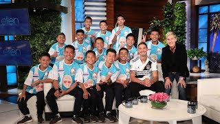 Video Ellen Talks to Thai Soccer Team in Their First In-Studio Interview Since Cave Rescue MP3, 3GP, MP4, WEBM, AVI, FLV Maret 2019
