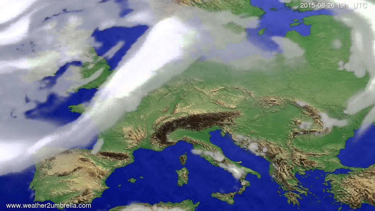 Cloud forecast Europe 2015-08-24