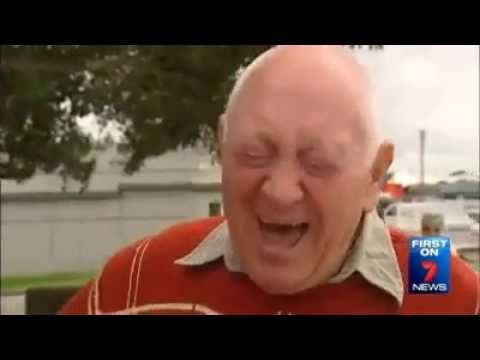 Old Guy laughing at his own joke on a news story (What a Joker)