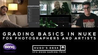 This video is sponsored by BenQ. I will show Grading basics in Nuke for Photographers and Artists. We will be opening Nuke, Lightroom and Da Vinci to show some basic concepts like Highlights, Mid Tones, Shadows, Primary Colour and Secondary Colour Correction.Please visit: http://www.benq.co.ukMusic:Backed Vibes Clean - Rollin at 5 by Kevin MacLeod is licensed under a Creative Commons Attribution licence (https://creativecommons.org/licenses/by/4.0/)Source: http://incompetech.com/music/royalty-free/index.html?isrc=USUAN1400029Artist: http://incompetech.com/