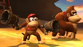 Donkey Kong Country Returns Co-op Walkthrough - World 6 - Clif...
