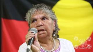 Elaine Peckham speaks at StandUp Conference 2017. A meeting on the 10th anniversary of the NT Intervention about the suffering of the last decade, and the plans for continued resistance. 10 Years Too Long. ELAINE PECKHAM is a Central Arrernte woman from Mbantua Alice Springs. She lived under the Intervention when it first came out when she was living on her homeland – which became a prescribed area. She stood up and challenged the system from the beginning and believes we need to keep speaking out and challenging. It's been ten long years. Ten years too long.  Friday 23rd June 2017