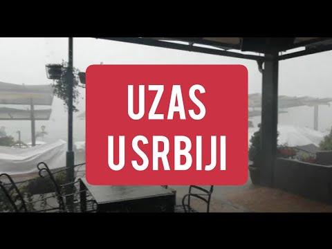 Stravicno NEVREME pogodilo Srbiju! Rusilo sve pred sobom! Led ,oluja ,kisa!