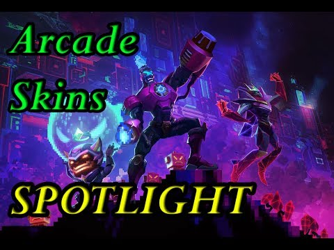 NEW ARCADE SKINS SPOTLIGHT (BATTLE BOSS BRAND,ZIGGS,MALZAHAR) - BG LEAGUE OF LEGENDS