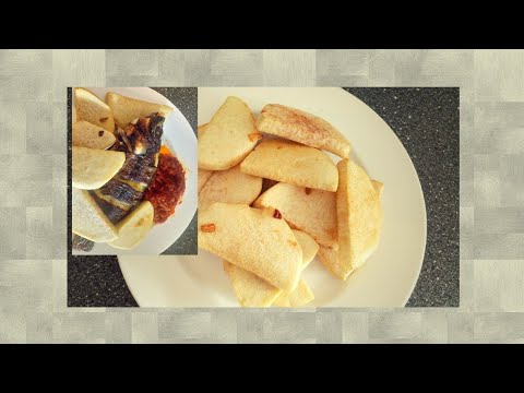 HOW TO MAKE FRIED YAM And fish // Dundu/
