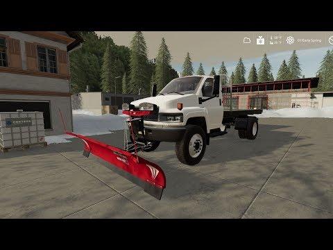 GMC Topkick Flatbed Plow Truck v2.0