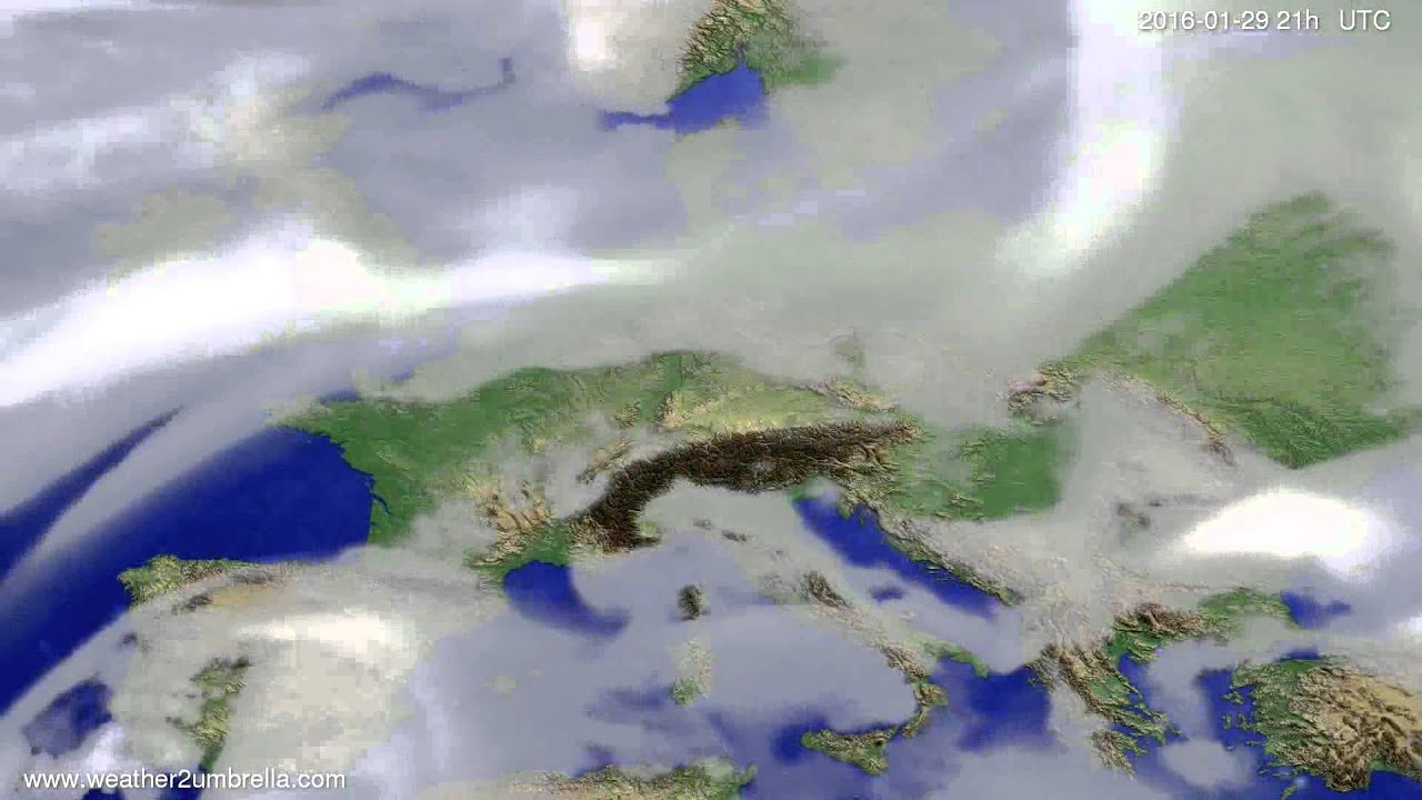 Cloud forecast Europe 2016-01-26
