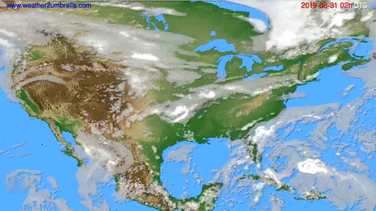 Cloud forecast USA & Canada // modelrun: 00h UTC 2019-08-29