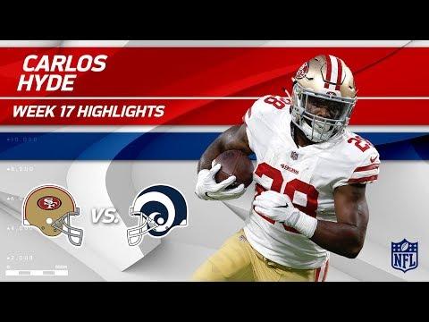 Video: Carlos Hyde Highlights | 49ers vs. Rams | Wk 17 Player Highlights