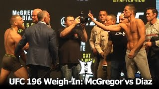 Video UFC 196: Conor McGregor + Nate Diaz Weigh-In And Stare Each Other Down. It's On! MP3, 3GP, MP4, WEBM, AVI, FLV Februari 2019