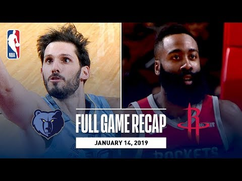 Video: Full Game Recap: Grizzlies vs Rockets | James Harden Goes Off For 57 Points