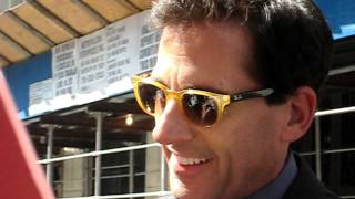 Steve Carell was on David Letterman to promote Crazy Stupid Love and was nice enough to sign autogrpahs for fans before taping