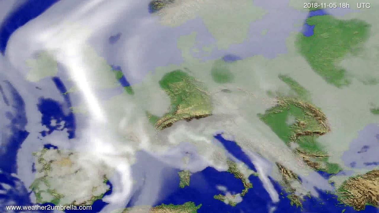 Cloud forecast Europe 2018-11-02