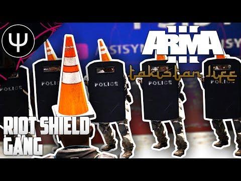 ARMA 3: Takistan Life Mod — Riot Shield Gang! (видео)
