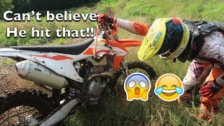 10. HE WRECKED AND BROKE HIS BRAND NEW DIRT BIKE!! | 2019 KTM 350XC-F