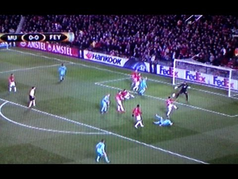 Manchester United - Feyenoord 4 0 - Romero amazing save at photofinish-Uefa Europa League 24-11-2016