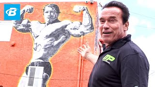 Video Arnold Schwarzenegger's Venice Beach Car Tour | Arnold Schwarzenegger's Blueprint Training Program MP3, 3GP, MP4, WEBM, AVI, FLV April 2019