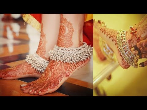 Video Bridal Silver Anklet Designs - New Collection  2018 download in MP3, 3GP, MP4, WEBM, AVI, FLV January 2017