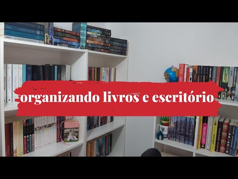 """ORGANIZANDO ESTANTE E ESCRITÃ""""RIO"""