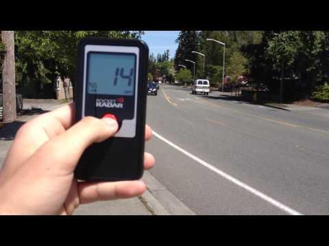 Pocket radar test clocking traffic