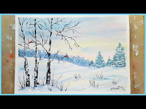 Содержаниекак нарисовать зимний пейзаж и красоту русской зимы карандашом, краскамивидео: «уроки рисования.